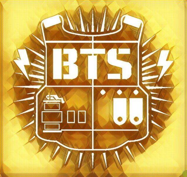 ảnh logo bts áo giáp vàng kim