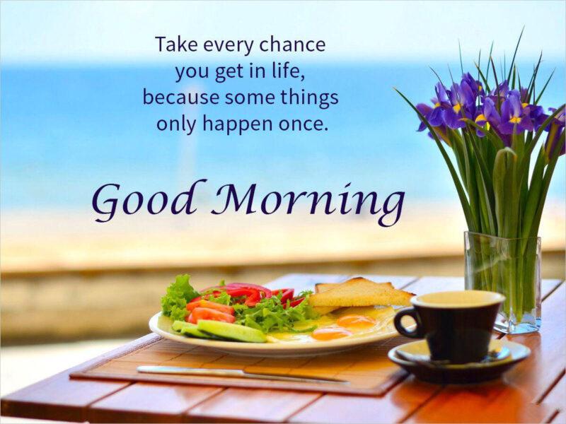 ảnh nền chúc buổi sáng và bữa sáng ngon lành khỏe mạnh