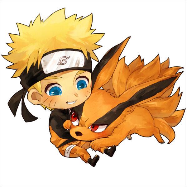 Ảnh nền Naruto chibi cửu vỹ hồ