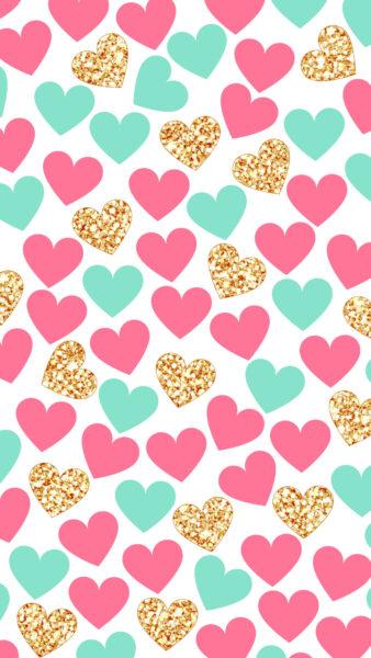 ảnh nền những hình trái tim cute cho điện thoại