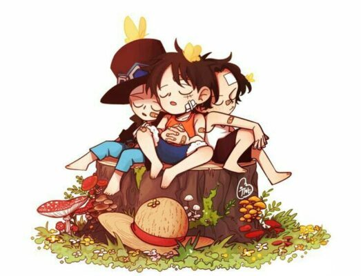 hình ảnh anime luffy one piece cute