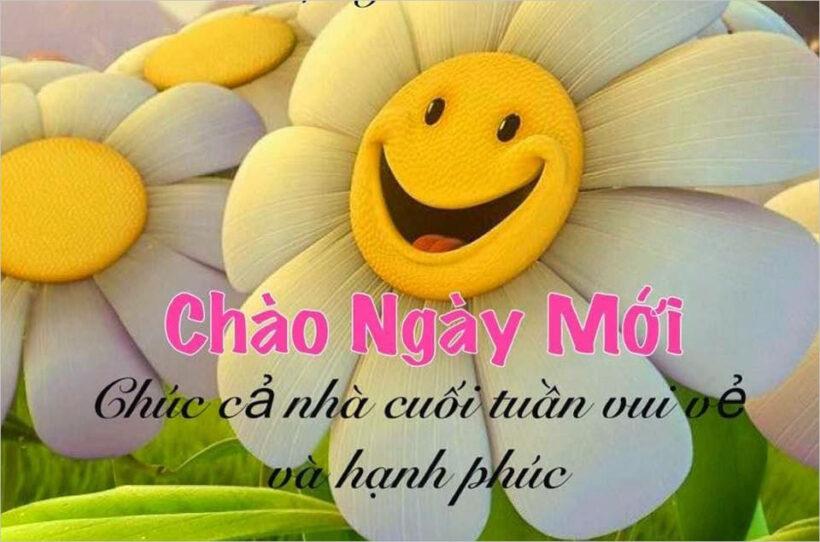 hình ảnh chào ngày mới hạnh phúc vui vẻ