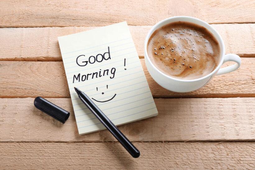 hình ảnh chúc buổi sáng đơn giản tinh tế