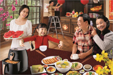 hình ảnh gia đình sum họp ngày xuân
