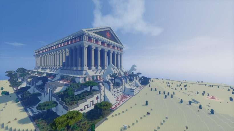 hình ảnh kì quan thế giới Wayward trong Minecraft