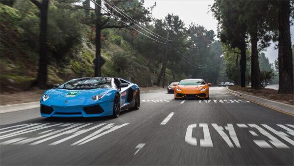 hình ảnh Lamborghini tuyệt đẹp chạy trên đường