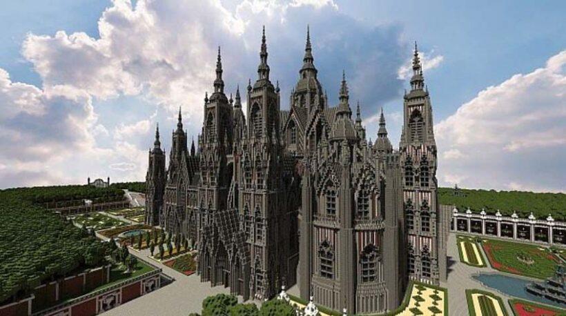 hình ảnh lâu đài trong minecraft