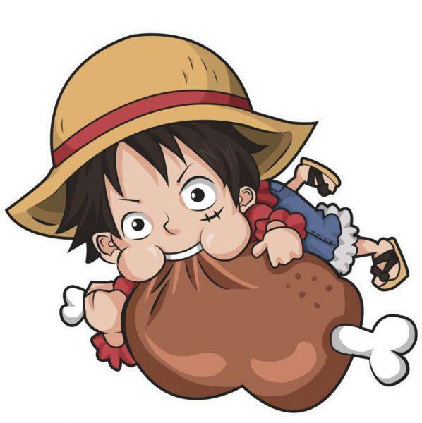 hình ảnh luffy tham ăn cute