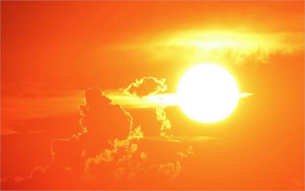 Hình ảnh mặt trời nắng nóng đẹp