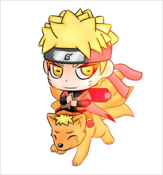 hình ảnh Naruto chibi ngầu lòi