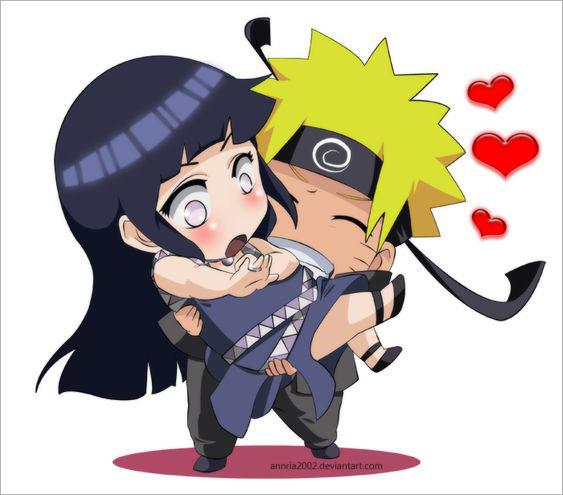Hình ảnh Naruto và Hinata chibi cute dễ thương