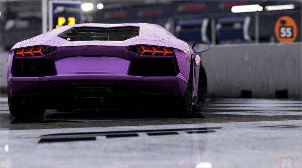 hình ảnh nền Lamborghini Aventador Roadster màu tím