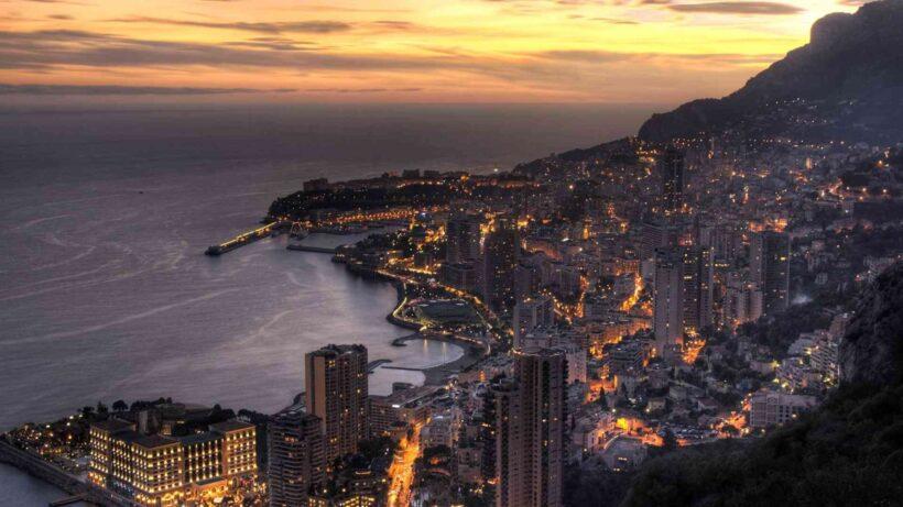 hình ảnh nền thành phố ven biển sầm uất