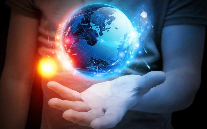 hình ảnh nền trái đất và công nghệ