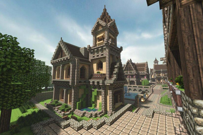hình ảnh ngôi nhà biệt thự trong minecraft