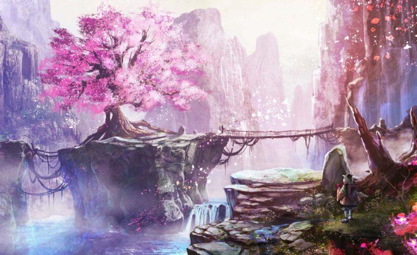 hình ảnh phong cảnh anime đơn giản