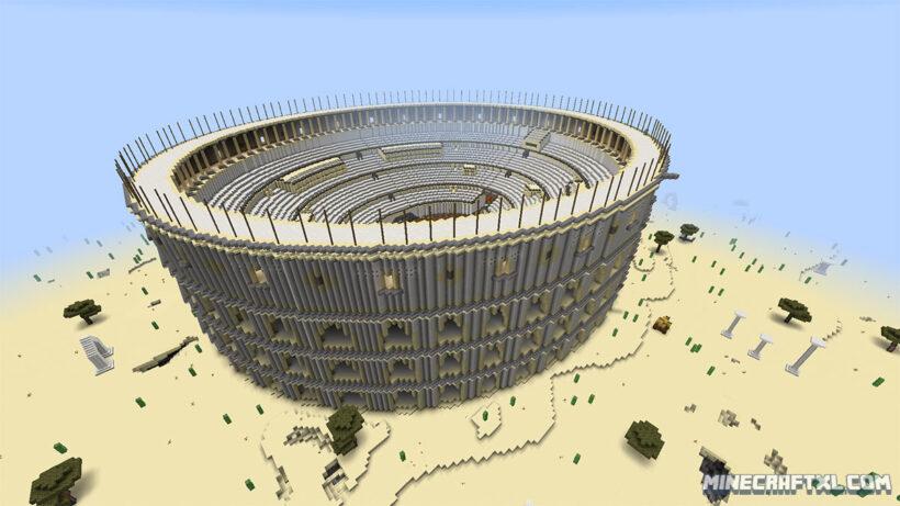 hình ảnh sân vận động trong minecraft