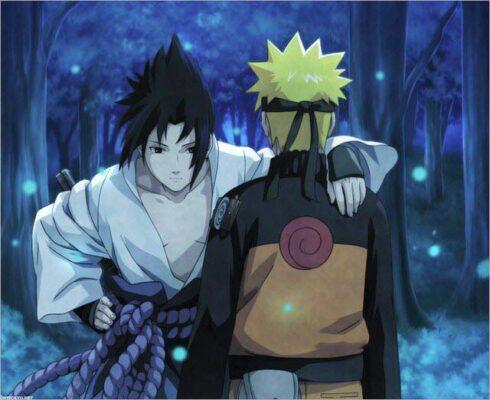 Hình ảnh Sasuke vỗ vai Naruto