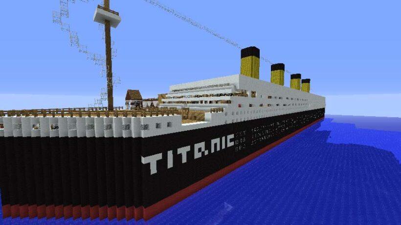 hình ảnh tàu titanic trong minecraft