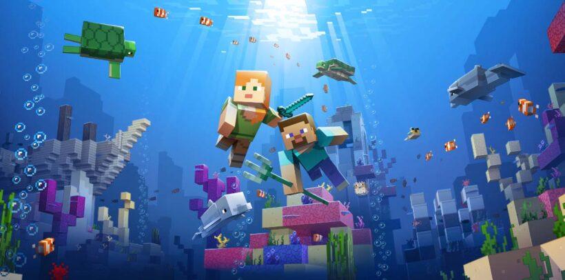 hình ảnh thế giới dưới đại dương trong minecraft