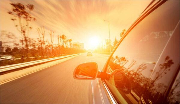 hình ảnh trời nắng và ô tô cực đẹp