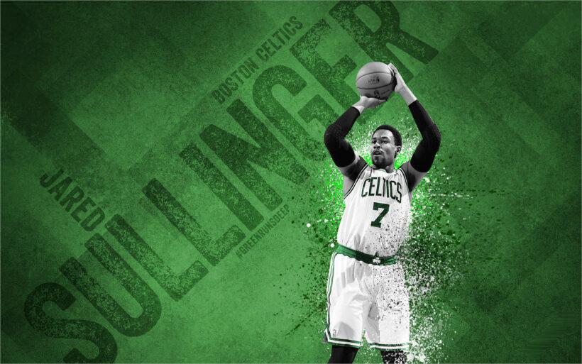 hinh Boston-Celtics tren nen xanh dep