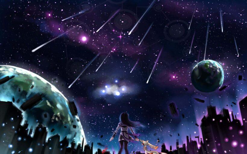 hình galaxy buồn anime