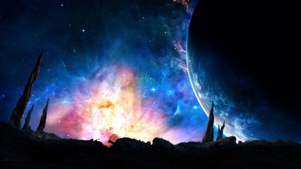 hình nền 4k anime galaxy