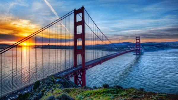 hình nền 4k cầu cổng vàng Mỹ