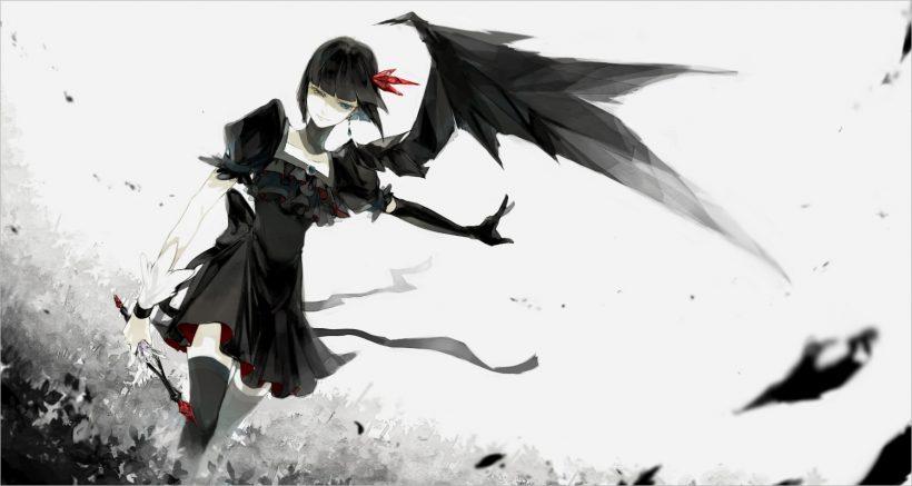 hình nền anime đen trắng đẹp nhất (14)