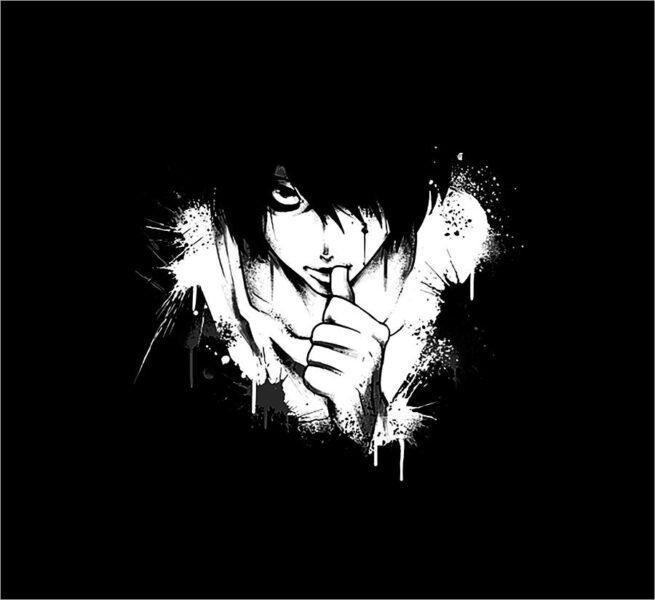 hình nền anime đen trắng đẹp nhất (15)