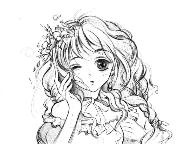 hình nền anime đen trắng đẹp nhất (2)