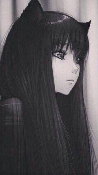 hình nền anime đen trắng hiếm đẹp nhất