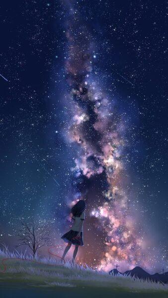 hình nền anime galaxy đẹp cho samsung