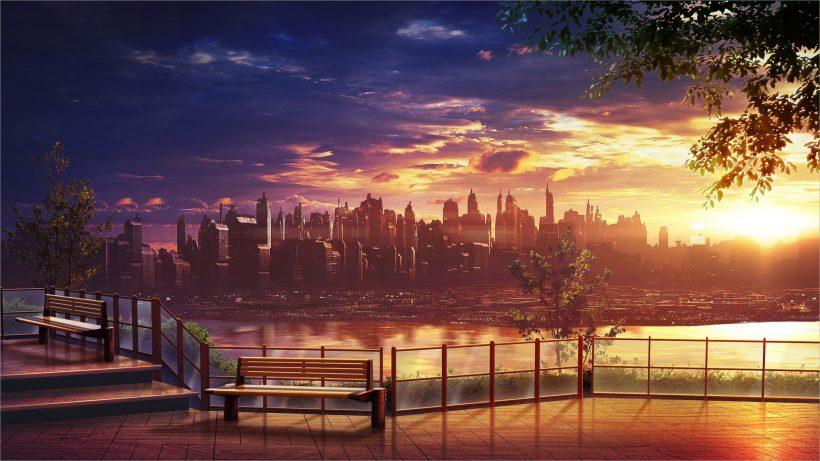 Hình nền anime phong cảnh đẹp