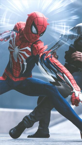 hình nền điện thoại 4k người nhện chiến đấu