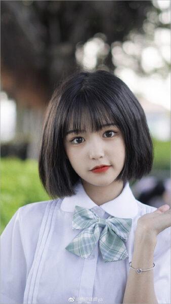 hình nền gái xinh tóc ngắn cute