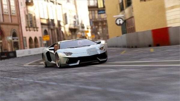 hình nền Lamborghini màu xám đẹp