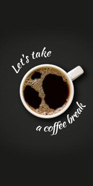 hình nền ly cafe phong cách điềm tĩnh