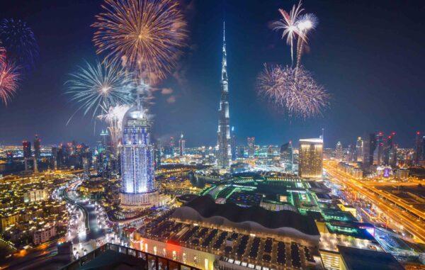 hình nền máy tính chúc mừng năm mới tại Dubai