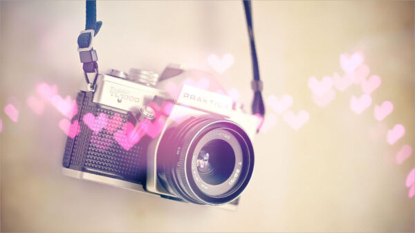 hình nền máy tính kỷ niệm tình yêu với máy ảnh