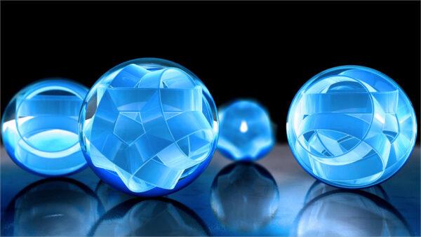 Hình nền những quả cầu 3D cho máy tính