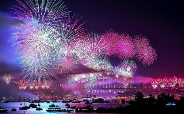 hình nền pháo hoa may mắn cho năm mới