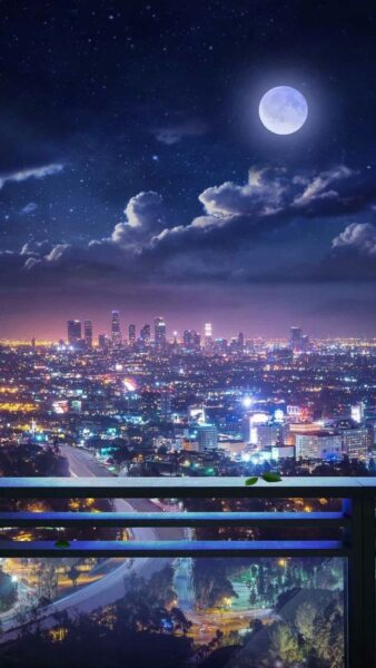 hình nền phong cảnh thành phố anime đẹp nhất cho iphone