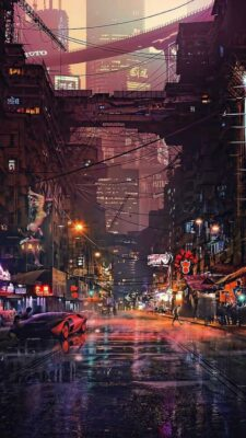 hình nền thành phố cho iphone android