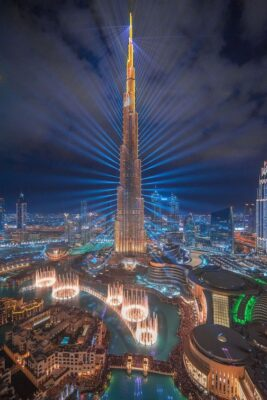 hình nền thành phố Dubai về đêm