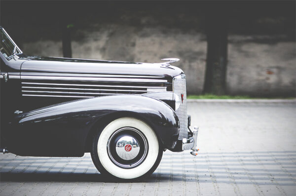 hình nền Vintage background ô tô trên phố cổ điển