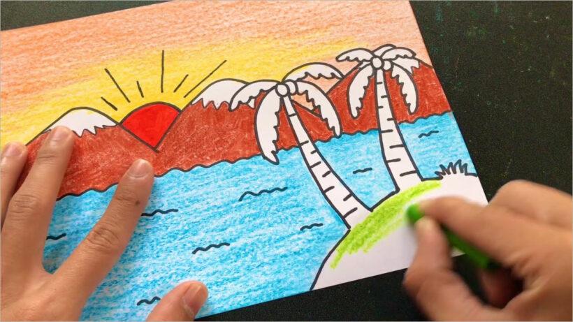 tranh vẽ phong cảnh quê hương (3)