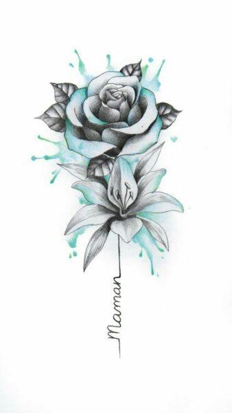 Vẽ hoa hồng bằng bút chì màu cực đẹp
