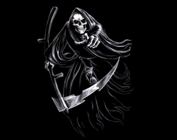 ảnh avatar đen thần chết đuổi